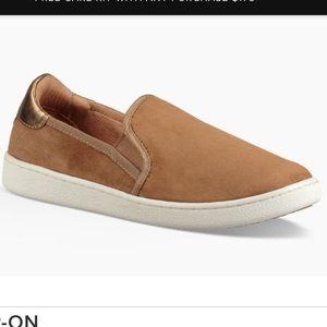 NIB UGG Cas sz 11 chestnut suede slip on sneakers